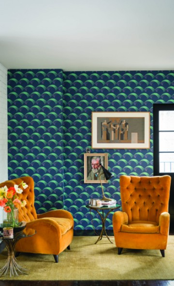 Tapetų interjero galerija