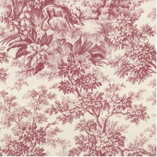 Stag Toile - Burgundy