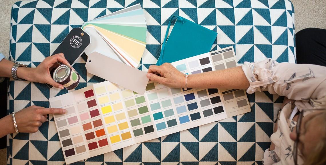 Dažai ir spalvos, kuriuos perkate iš namų  Dažų mėginėliai